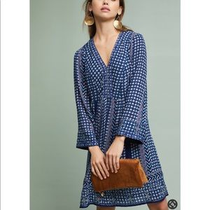 Anthropologie Akemi + Kin Blue V-neck Dress Size L